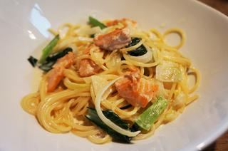 小松菜と鮭のスパゲティー.jpg